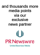 press releases sent through PR Newswire